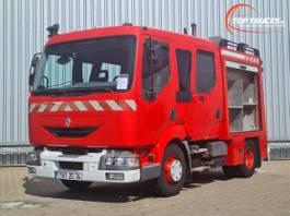 brandweerwagen vrachtwagen Renault 180.10 Doppelcabine - 1.500 ltr watertank - Feuerwehr, Fire brigade 2001