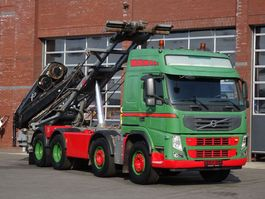 containersysteem vrachtwagen Volvo 13.460 8x2 Cable containter system - HIAB 166 E4 Hipro Crane 2010