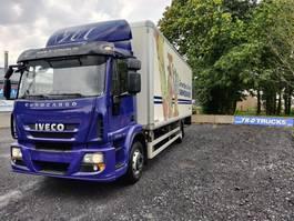 koelwagen vrachtwagen Iveco EuroCargo 150 e22 insulated box with taillift dhollandia