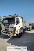 platform vrachtwagen Scania P93 H 250 6X2 10 tyres air con left hand drive. 1993