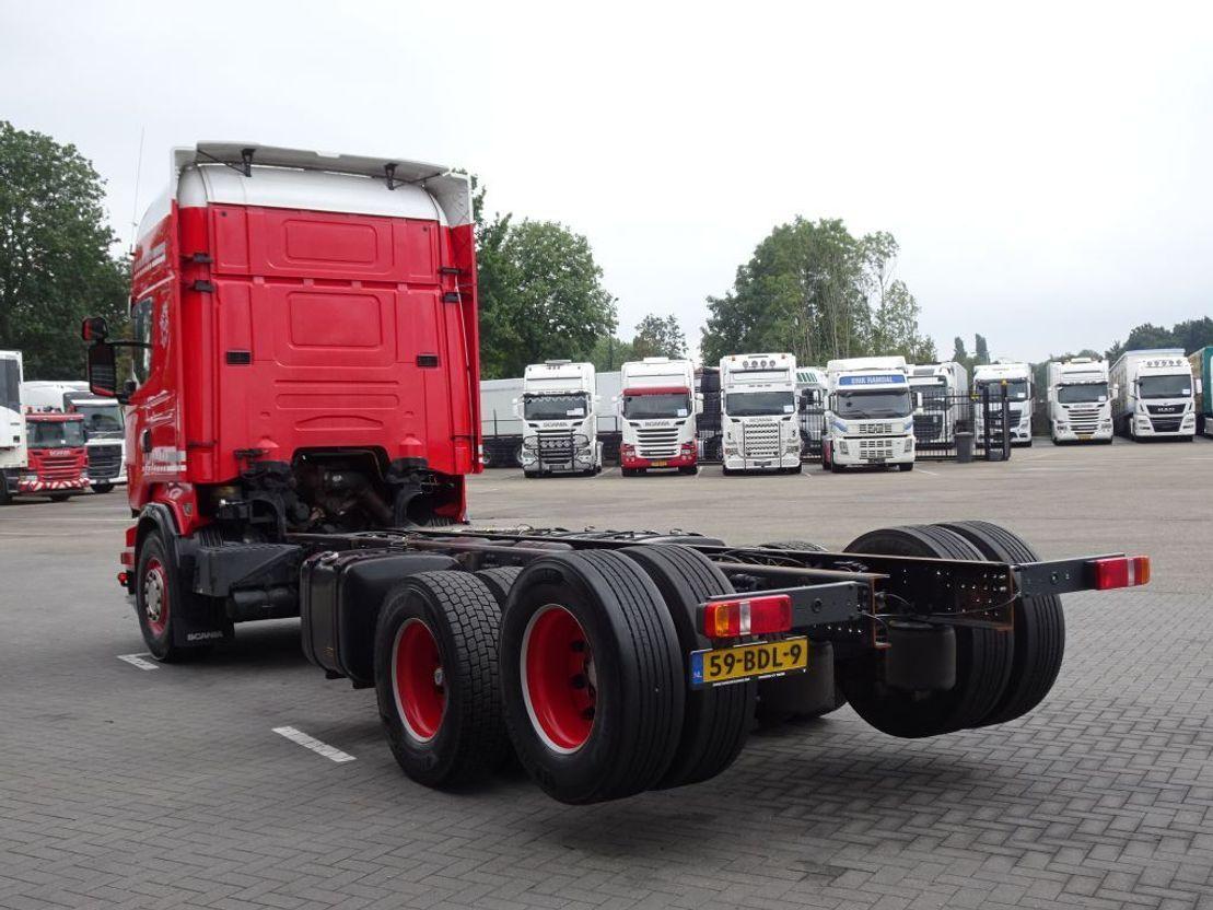 chassis cabine vrachtwagen Scania R520 Topline 6x2 - Euro6 - Manual gearbox - Retarder - Leather - Night Clima 2013