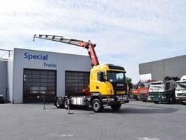 standaard trekker Scania R500 6x4 + Fassi F450 XP 2005