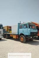 platform vrachtwagen Iveco Turbostar 190 13.8 diesel 10 tyres manual retarder left hand drive. 1989