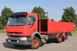 open laadbak vrachtwagen Renault Premium 320 DCI 6X2 MANUEL STEERING AXLE EURO 3 2006