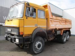 kipper vrachtwagen Iveco Magirus 170-34HW , V8 , manual , 6x4 , Spring suspension , 3 way tipper 1990