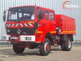 brandweerwagen vrachtwagen Renault M 210 4x4 -Feuerwehr, Fire brigade - 3.500 ltr watertank - Expeditie, Ca... 1997