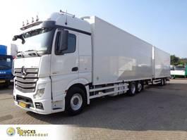 bakwagen vrachtwagen Mercedes-Benz Actros 2545 Euro 5 + Hertoghs combi + Omega floor + throughloader 2012