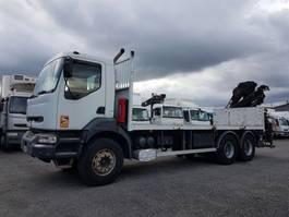 platform vrachtwagen Renault Kerax 370 dci.26 6x4 + HIAB 195.3 2002