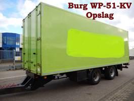 gesloten opbouw aanhanger Burg - Floor - Groenewegen - Vogelzang, Wipkarren T.b.v. Stalling en Opslag