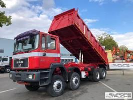 kipper vrachtwagen MAN 35.403 Full steel - Manual - Mech pump 1997