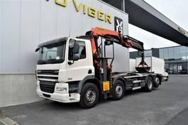 containersysteem vrachtwagen DAF CF 85 *Palfinger T22 Haakarm & Palfinger 26T Kraan 2012