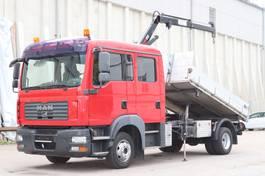 kipper bedrijfswagen <3.5 t MAN 8.210 3S Kipper E4 Kran Hiab 035 Orig. Km! 2007