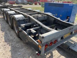container chassis aanhanger Trias Containersystem Abrollkipper | tandem axle 3 | LHV LZV Lang-LKW 2016