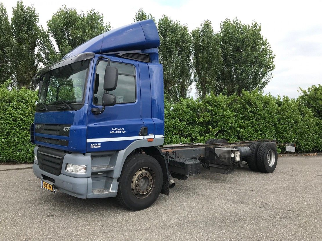 chassis cabine vrachtwagen DAF CF85.410 Euro5 2012
