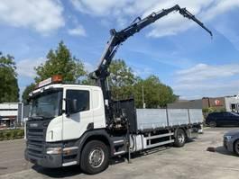 open laadbak vrachtwagen Scania P230 4X2 MANUAL EURO 5 + HIAB 144 E-3 + JIB 45X-2 MET REMOTE + LAADKLEP 2009