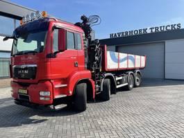 containersysteem vrachtwagen MAN TGS 37 480 8x2 B-L Hiab 166-2 VDL kabellift 2011
