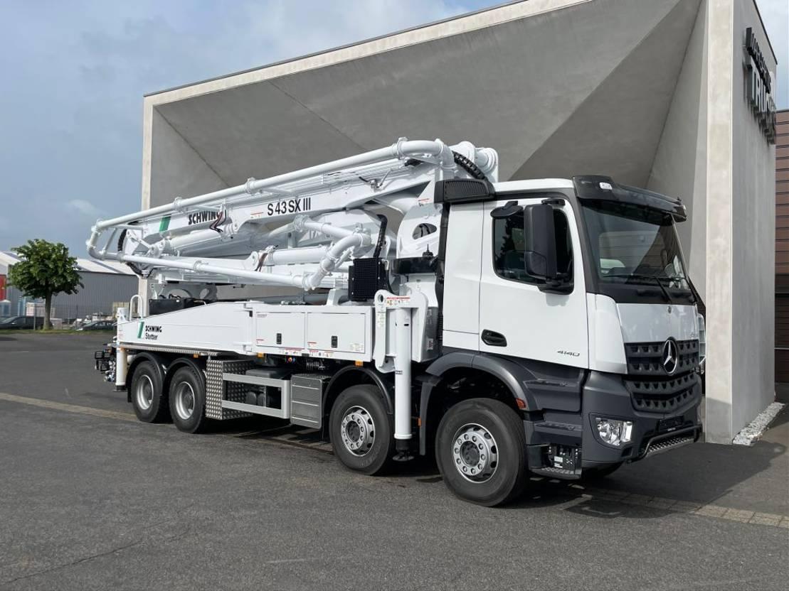 betonpomp vrachtwagen Mercedes-Benz 4140 8x4 -Euro 3 - S43SX III Schwing Concrete Pump - NEW