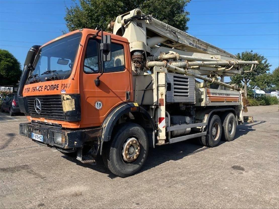 betonpomp vrachtwagen Mercedes-Benz 2629K 6X4 STEEL SUSPENSION / MANUAL GEARBOX 1991