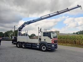 open laadbak vrachtwagen MAN TGS 33 6x4 Euro5 Kraan HIAB 377 2010