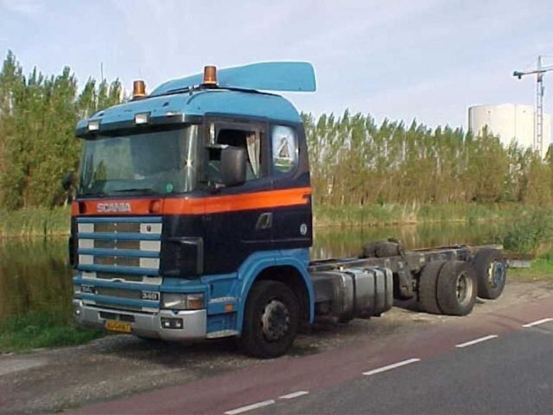 chassis cabine vrachtwagen Scania R114 R 114 LB  6X2 1999