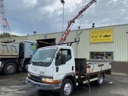 open laadbak vrachtwagen Mitsubishi 3.9 Engine 24 Volt HMF 260 Crane Good Condition 1999