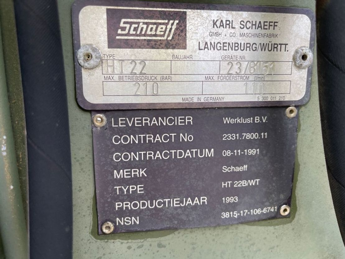 graafarm Schaeff HT22 Hydrauische kraanarm tbv shovel