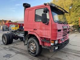 chassis cabine vrachtwagen Scania P112 **FULL STEEL-LAMES** 1986