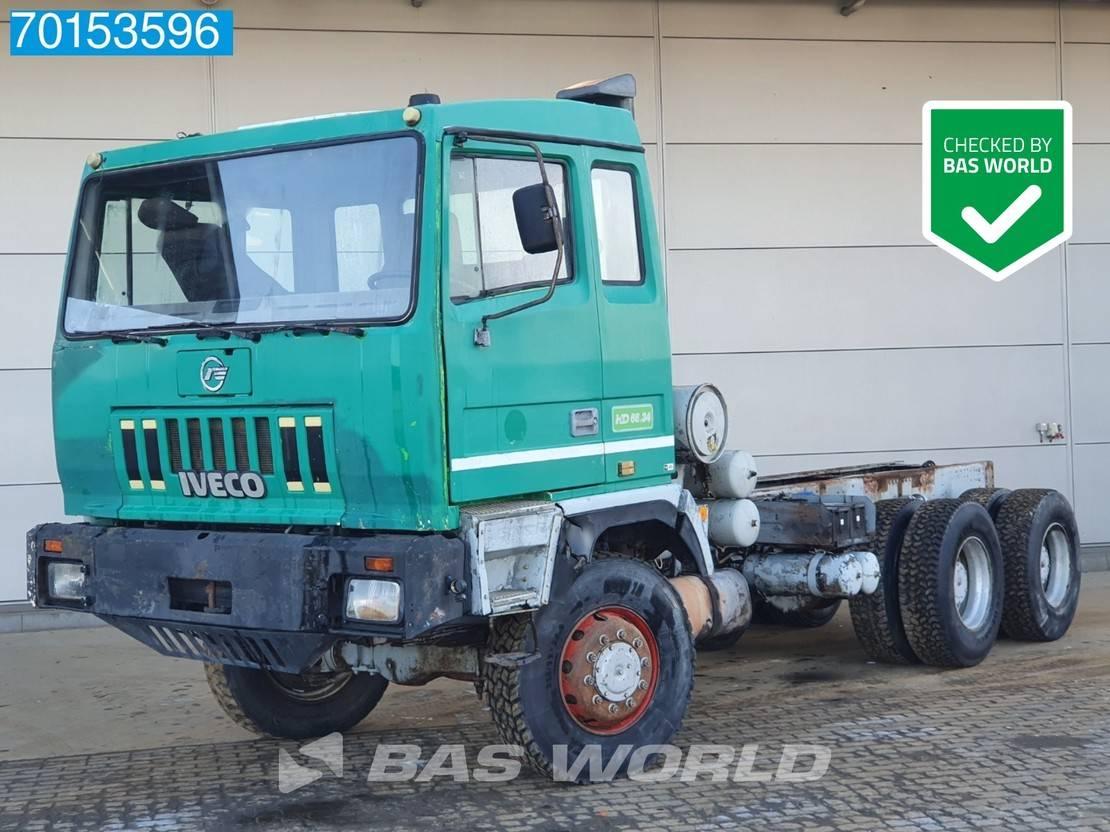 chassis cabine vrachtwagen Astra HD666.34 6X6 6x6 Manual Big-Axle Steelsuspension Euro 2 1996
