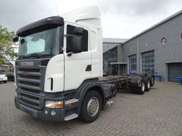 chassis cabine vrachtwagen Scania R420 / AUTOMATIC / DAYCABIN / 8X4 / STEERING AXLE / EURO-4 / 2008 2008