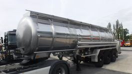 tankoplegger Burg voedings citerne melk pomp  3 compartimenten 29000 liter 1990