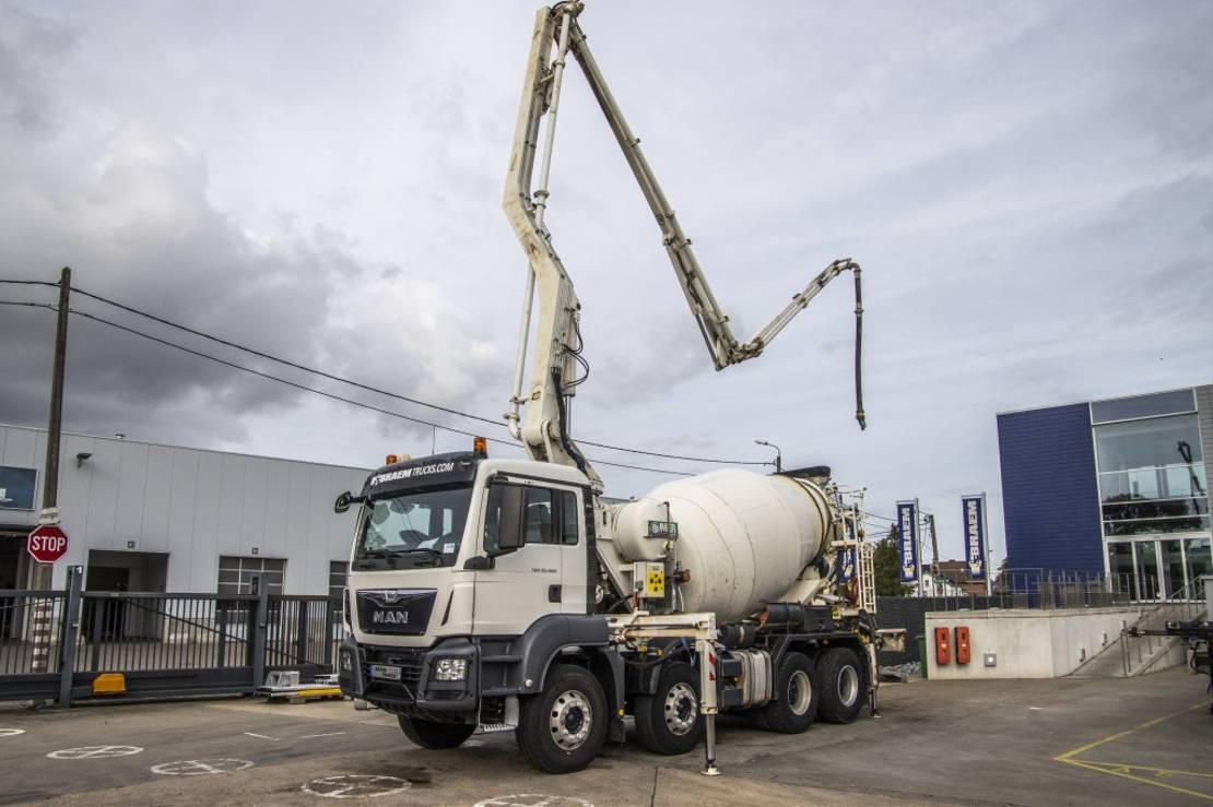 betonpomp vrachtwagen MAN TGS 32 32.400+MIXER+BOOMIX Z424 2015