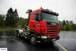 kraanwagen Scania R124 6x2 hook truck 1997