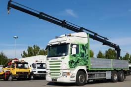 platform vrachtwagen Scania R620 Pritsche Retarder Scheckheft Kran Hiab 144 2008