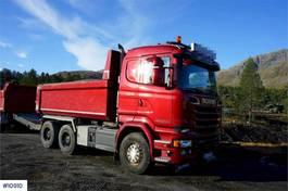 kipper vrachtwagen Scania R580 Streamline 6x4 Tipper truck. Steel suspension 2016