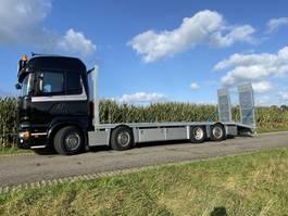 oprij vrachtwagen Scania R580   8x2*6   HYDRO-RAMPS   FULL AIR   LOW LOADER   LOW KM   2017