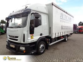 schuifzeil vrachtwagen Iveco EuroCargo 120 E25 + Euro 5 + Dhollandia Lift 2014