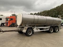 tank aanhanger Magyar VM Tarm 18.800L Isolated/Isoliert Food-Milk 4 rooms Liftaxle RVS 2009