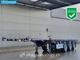 container chassis oplegger D-TEC Flexitrailer FT-LS-S 3 axles NEW! 2x Ausziehbar 2x20-1x30-1x40-1x45 ft. 2021