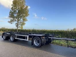container chassis aanhanger Floor Floor 3 asser / 30 ton / new apk 2002