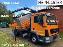 kipper bedrijfswagen <3.5 t MAN TGL 8 3 S-Kipper Hiab HLK 66A2 *9,5m - 730kg 2013