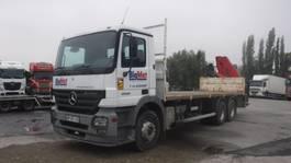 open laadbak vrachtwagen Mercedes-Benz Actros 2636 6x4  kraanwagen 2004