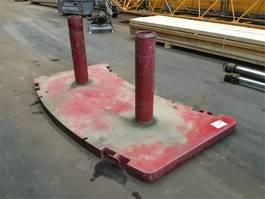 overige equipment onderdeel Grove GMK 5100 counterweight Base slice