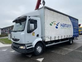 schuifzeil vrachtwagen Renault Midlum 270 DXI 4X2 - BOX 7,45 METER + LAADKLEP DHOLLANDIA 2011