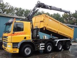 kipper vrachtwagen Ginaf X 4243 TS 8x4 kieper met kraan 2006