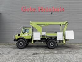 autohoogwerker vrachtwagen Unimog U1750 L/38 4x4 Ruthmann T145 New Cabin! 1990
