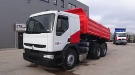 kipper vrachtwagen Renault Premium 260 (GRAND PONT / POMPE MANUELLE / SUSPENSION LAMES / EURO 2) 1998
