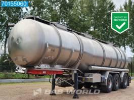 tankoplegger Burg BPO 12-28 Z 3 axles 35.420 Ltr / 3 Comp / Lift+Lenkachse Animal Food 1994