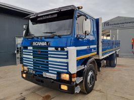 platform vrachtwagen Scania 112 M 320 4x2 stake body 1983
